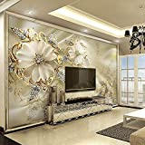 European Diamond Jewelry Gold Hintergrund dekorative Wandbild Modern Art Mural Wohnzimmer