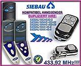 SIEBAU MCHS43-2 / MNHS433-02 / MNHS433-04 / MAX 43-2 / MAX 43-4 kompatibel handsender, ersatz sender, 433.92Mhz !!!