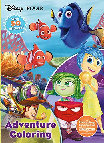 Disney Pixar Adventure Coloring: With 50 Stickers! (Jumbo Coloring with 50 Stickers)