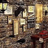 Bilderrahmen Wohnaccessoires Fotowand Multifunktionswand Multi-Bild DIY Wand (Farbe: Schwarz und Weiß) (Farbe : Schwarz und weiß, Größe : -)