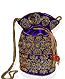 Purpledip Traditional Silk Potli bag for Women,Purple (10532)