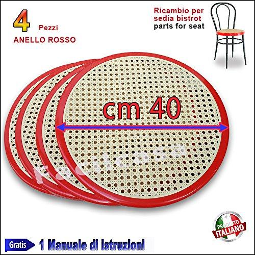 Ricambio Sedia Thonet in Metallo Bistrot FACILCASA Seduta Rotonda(BistrotRosso)