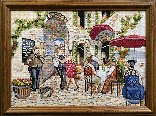 Design Works Kreuzstichvorlage Café Dance 14 Count Aida Cross Stitch, Weiß, Mehrfarbig, Farbe (Works Dance)