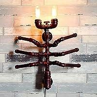 Lámpara de pared industrial retro La creatividad del tubo de hierro forjado DIY hormigas personalidad decoración de la pared bar 21 * 22 * 55 cm