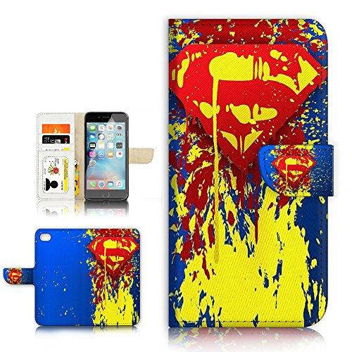 (für iPhone 6/iPhone 6S) Flip Brieftasche Stil Fall, Schock Schutz Design mit Displayschutzfolie-b31010Superman