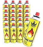 REX Camping Gaskartusche BUTAN-Gas à 227 g Inhalt pro Flasche für Camping-Kocher Outdooraktivitäten Grillen (24er-Pack)