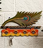#1: JaipurCrafts Beutiful Mor Pankhi Wooden Key Holder