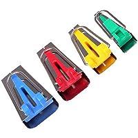homiki Lot de 4 Appareils à Biais / Bandes Fusible de Tissus de Tailles Différentes pour Fabriquer Largeur Bias Tape 6mm 12mm 18mm 25mm