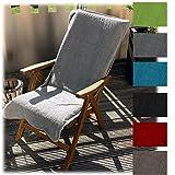 JEMIDI Frottee Schonbezug für Gartenstühle Gartenstuhl 60cm x 130cm Frotteebezug Baumwolle Auflage Schonauflage Bezug Liege Sonnenliege Gartenstuhlbezug Auflagenbezug Hellgrau