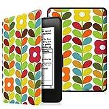 Fintie EKD0130 Custodia a libro per Amazon Kindle Paperwhite con Magnete interno, Multicolore (Child's Garden)