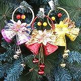 Tofree Weihnachtsbaum-Dekoration, Weihnachtsglocken, Glocken, 3 Stück