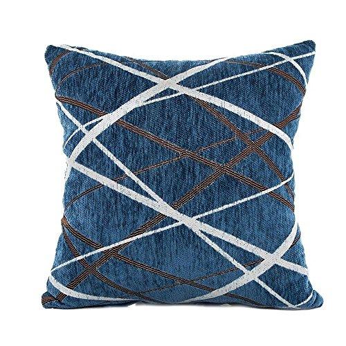 Doublehero Kissenüberzug,Sofa Auto Bett Dekoratives Kreatives Stilvolle Einfachheit Muster Kissenhülle Kissen Home Deko (Blau) (Dekorative Kissen-abdeckungen Blau)