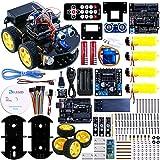 Elegoo UNO R3 per Arduino Progetto di una Piccola Robot Auto Car V1.0 con Tutorial in Italiano con UNO R3, Modulo Segui Linea, Sensore a Ultrasuoni, Modulo Bluetooth ecc.