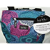 Nicole Miller Of New York Insulated 11 Lunch Tote- Paisley Multi Color/Blue