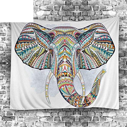 GTDE Elefant Tapisserie Wandbehang Tier Wand Teppich Twin Hippie Tapisserie Böhmischen Hippie Home Decor Bettdecke Blatt Tapestry 001 100x150cm (Twin-betten Schubladen)