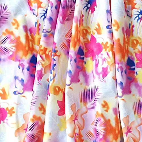 Summer Mae Costumi da Bagno Due Pezzi Imbottito Tankini Push-up Multicolore da Donna Arancia