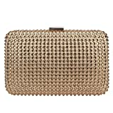Bonjanvye Luxury Diamond Clutch Purses for Women Evening Bags and Clutches Gold