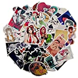Yoogeer 100Pcs Anime Sexy Girl Graffiti Skateboard Stickers Laptop Cartoon Luggage Decal ...