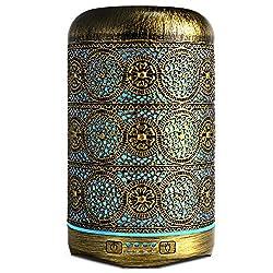 SALKING Aroma Metall Aromatherapie Diffusor für ätherische ÖlenDuftlampe, 7 Farbe Licht Vintage Diffusor, 260ml