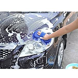 Goodway Sophisticated & Multipurpose 2 in 1 Chenille Hand Duster With Microfiber Mitts & Sponge with Grip Holding (color may vary) for Ford Aspire 1.2 Ti-VCT Titanium