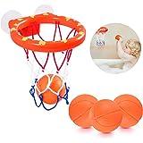 NATUCE Juguetes de baño,Mini Baloncesto aro Set & 3 Pelota con Ventosa Fuerte Interior al Aire Libre, Regalos para Bebé Niños