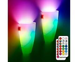 Appliques murales à LED intérieures, 10w télécommande moderne pour appliques murales avec ampoule à changement de couleur RGB