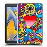 Head Case Designs Offizielle Howie Green Frieden, Liebe Und Musik Herzen Soft Gel Huelle kompatibel mit Galaxy Tab A 8.0 (2018)