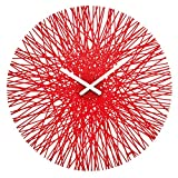 Acquista Koziol-Orologio da parete, rosso trasparente, 3.5  x  44.8  x  44.8 cm
