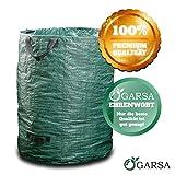 GARSA Gartenabfallsack mit rießigem 300 Liter Volumen - PREMIUM Gartensack mit Verstärkten Griffen