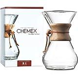 Chemex - Macchina da caffè con manico in legno, 8 tazze, colore: Trasparente