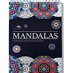 Livre de Coloriage Adultes Mandalas Anti-Stress: le Premier Cahier de Coloriage à Spirale et Papier Artiste par Colorya