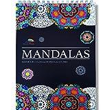 Livre de Coloriage Adultes Mandalas Anti-Stress: le Premier Cahier de Coloriage à Spirale et Papier Artiste par Colorya...