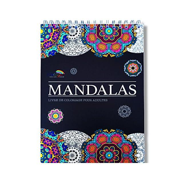Coloriage Adulte Spirale.Le Premier Cahier De Coloriage Mandala Avec Papier Noir Artiste Et