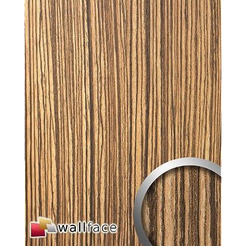 wallface wood zebrano panel decorativo de diseo madera con relieve marrn claro y oscuro