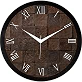 IT2M Round 11.75 Inch Designer Wall Clock With Glass Cover (9177)