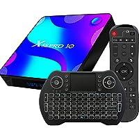 TV Box Android 10.0, 2GB 16GB Supports 4K 3D, Smart TV Box RK3318 Quad-Core 64bit Cortex-A53 Wi-FI 2.4G/5G LAN100M USB 3…