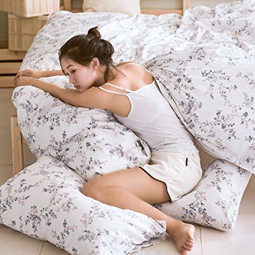 GX&XD Kunst frische Baumwolle Bettwäscheset, Cute Tröster Cover gedruckt Fade beständig Weich atmungsaktiv Bettbezug-D 180x220cm(71x87inch) -