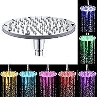ZARA LED Cabeza de Ducha 7 Colores Que cambian automáticamente y 3 Colores Que cambian con