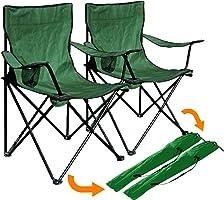 Granit Venedik Kamp Koltuk Sandalye 2 Adet Yeşil P209