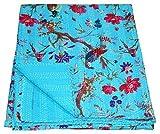 Best Prints Prints Prints Bird Houses - Mandala House Bird Print King Size Kantha Quilt Review