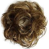 PRETTYSHOP 100% pelo real, cabello humano, coletero, postizo, hairpiece, concentración de cabello - PRETTYSHOP Cabello Humano - amazon.es