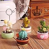 urgrace 4pcs Bonsai cactus tarjeta de mensaje de nombre número lugar de mesa soporte para boda fiesta decoración de hogar oficina escritorio pequeñas pinzas soporte para oficina Suministros Accesorios