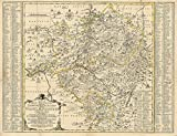 Historische Karte: Vogtländischer Kreis mit den Ämtern Plauen, Pausa und Voigtsberg; Herrschaft Ascha 1758 (gerolt) - Peter Schenck