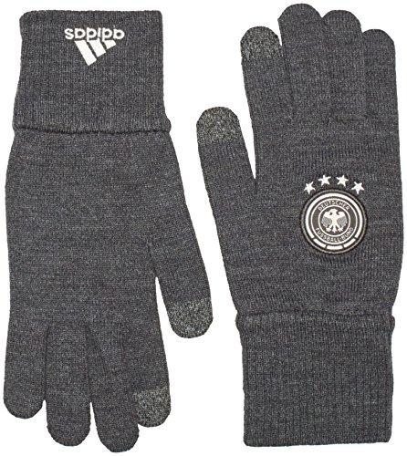 adidas Herren Handschuhe DFB Fußball, Grau/Weiß, M, AH5735
