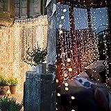 Hengda® LED Lichtervorhang Weihnachtsdekorationlichter Lichterkette Weihnachten Twinkle Warmweiß