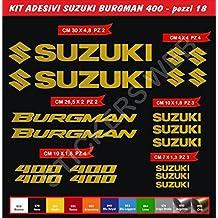 Pegatinas adhesivos SUZUKI BURGMAN 400 para motos, motocicletas. Cod.0641 (Oro cod