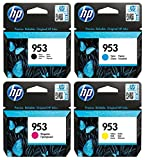 HP Original 953 Tintenpatronen 4er Set schwarz, Cyan, Magenta, gelb (L0S58AE, F6U12AE, F6U13AE, F6U14AE)
