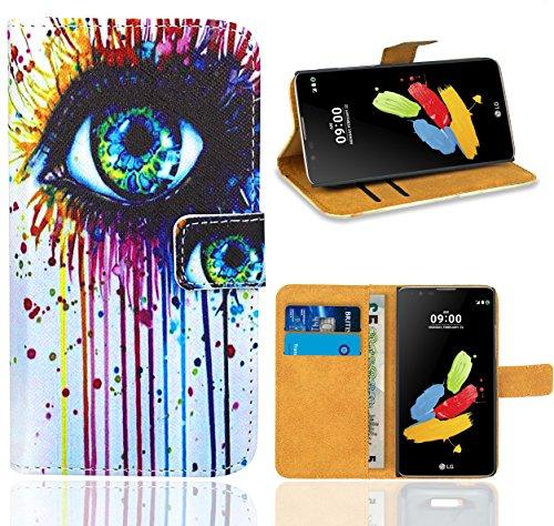 Preisvergleich Produktbild LG Stylus 2 Handy Tasche,  FoneExpert Wallet Case Flip Cover Hüllen Etui Ledertasche Lederhülle Premium Schutzhülle für LG Stylus 2