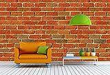 ELL DECOR Brick Pattern wall paper (Hori...