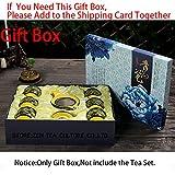 CUPWENH 7 Pcs/Viele Chinesische Pfingstrose Dragon Haushalt Kaffee Set 1 Teekanne 6 Tasse Tee Blau Und Weiß Porzellan Kung Fu Teeservice Keramik Teekanne Schale, Nur Geschenkverpackung